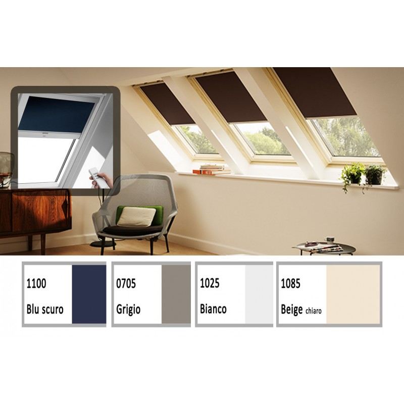 Tenda oscurante integra solare velux steldoshop for Ricambi tende velux