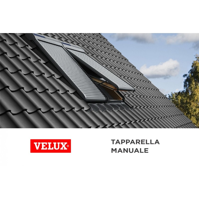 tapparella manuale velux protezione e oscuramento steldoshop. Black Bedroom Furniture Sets. Home Design Ideas