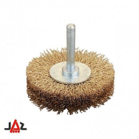 Jaz - spazzola circolare acciaio ottonato ondulato