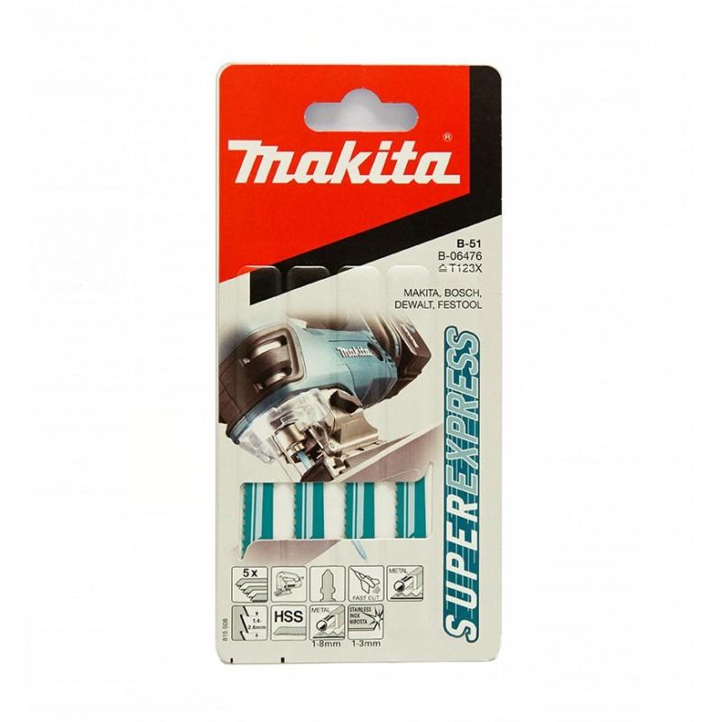 Makita B-06476 - Lama HSS con denti diritti per seghetto alternativo