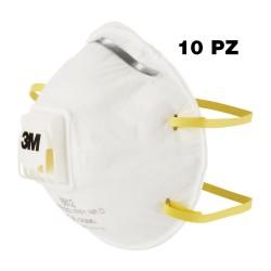 Maschera FFP1 antipolvere con valvola 3M 8812 - 10 pz