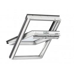 Velux Finestra per tetti a falda in legno e poliuretano bianca con apertura a bilico manuale GGU