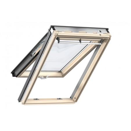 Velux Finestra per tetti a falda in legno naturale con doppia apertura vasistas/bilico manuale GPL