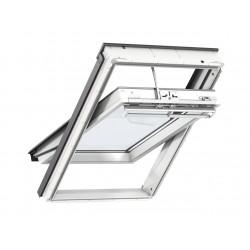 Velux Finestra per tetti a falda in legno e poliuretano bianca con apertura a bilico elettrica GGU