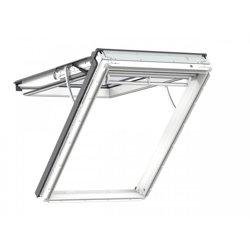 Velux Finestra per tetti a falda INTEGRA in legno e poliuretano bianca apertura a vasistas elettrica