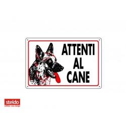 Cartello ATTENTI AL CANE - dimensioni 20 x 30 cm (n.1)