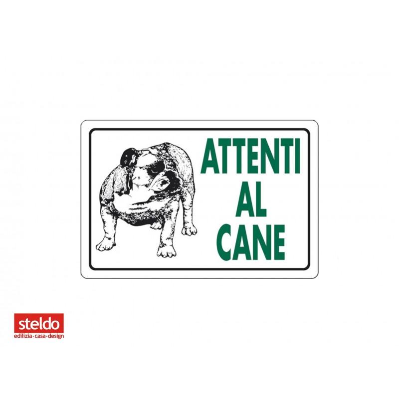 Cartello ATTENTI AL CANE - dimensioni 20 x 30 cm (n.2)