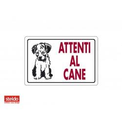 Cartello ATTENTI AL CANE - dimensioni 20 x 30 cm (n.3)