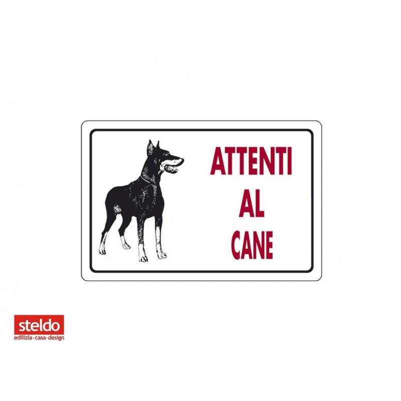 Cartello ATTENTI AL CANE - dimensioni 20 x 30 cm (n.4)