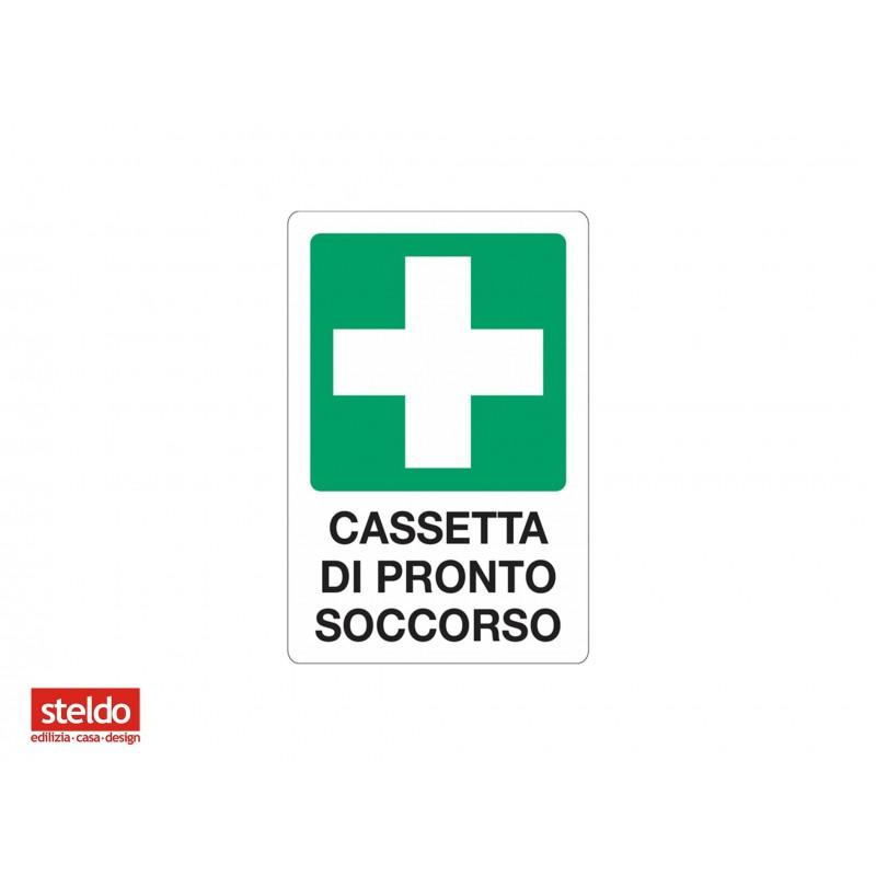 Cartello CASSETTA PRONTO SOCCORSO - dimensioni 20 x 30 cm