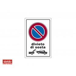 Cartello DIVIETO DI SOSTA - dimensioni 20 x 30 cm