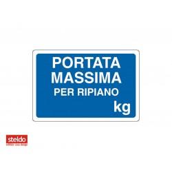 Cartello PORTATA MASSIMA - dimensioni 20 x 30 cm