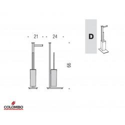 Colombo piantana per WC con porta scopino e porta rotolo B9107D